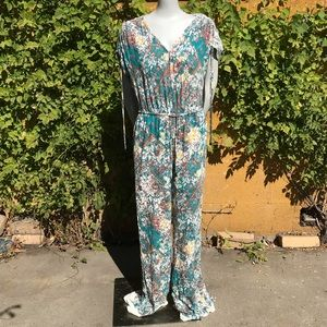 Elevenses Zula lace jumpsuit Anthropologie DB6